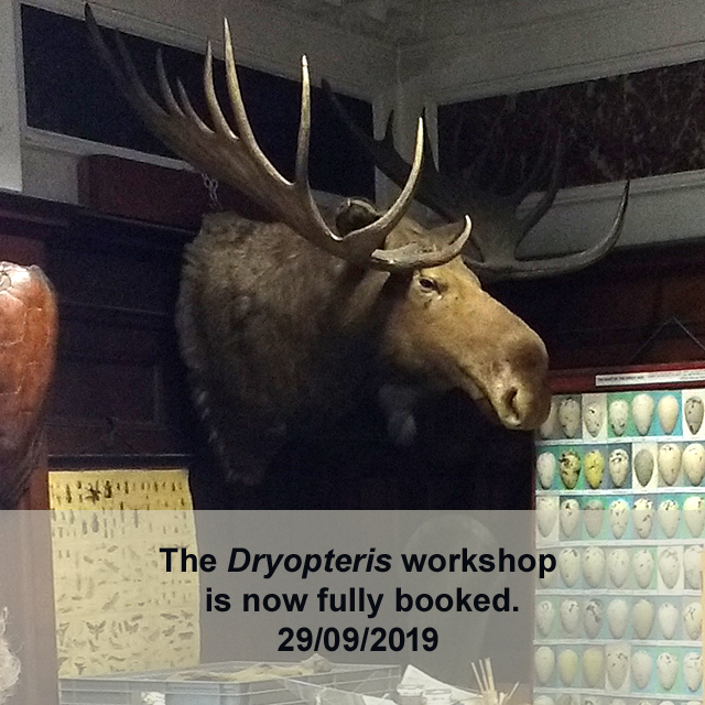 The Dryopteris workshop is fully booked